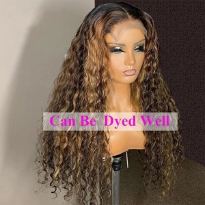 Image 4 - Perruques brésiliennes de fermeture de vague profonde perruques de cheveux humains de fermeture de dentelle pré plumées pour les femmes noires 150% perruques frontales de dentelle de vague profonde de Remy