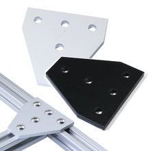 8pcs 5 Hole 90 Degree Joint Board Plate Corner Angle Bracket Connection Joint Strip for 2020 Aluminum Profile 3D Printer Frame