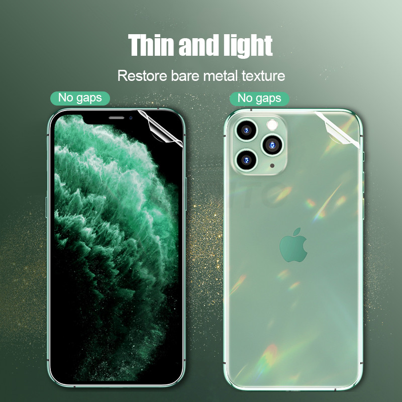 Image 2 - 25D ScreenProtectorHydrogelFilm For iphone 7 6 6s 8 Plus ProtectiveFilm For iphone X XR XS Max 11 pro max Not Glass-in Phone Screen Protectors from Cellphones & Telecommunications