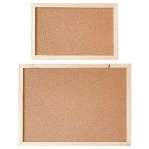 Cork Wood Wall Hanging Message Bulletin Board Frame Notice Note Memo Board Shop X6HB