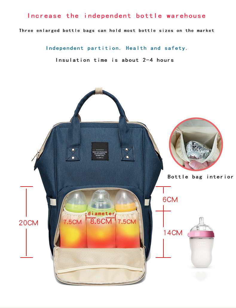 Hecc2b691a7c54a83814a5be5ea4fa048r Fashion Mummy Maternity Nappy Bag Waterproof Diaper Bag With USB Stroller Travel Backpack Multi-pocket Nursing Bag for Baby Care