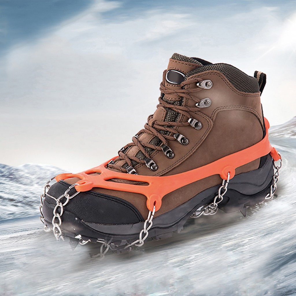 Anti Slip 8-teeth Ice Gripper Non Slip Climbing Crampons Cleats Shoe Cover Ice Crampons Winter Snow Spikes For Winter #3
