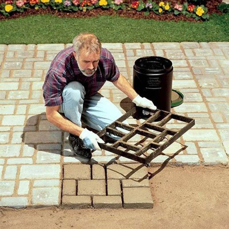 Garden Pavement Mold DIY Path Making Manually Paving Cement Brick Tool Stepping Stone Block Pavement Buildings Path Maker Mold
