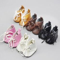 Bota de boneca de 5cm para 1/4 bjd, mini sapato com meias de 14 polegadas acessórios da boneca brinquedos