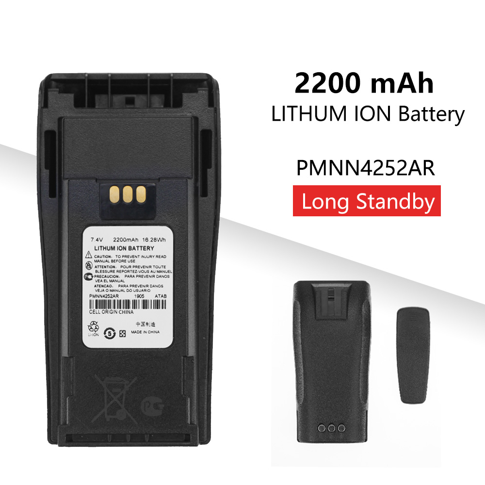 2200mAh PMNN4252AR Replacement Li-thium Battery For Motorola CP040 CP140 DP1400 Walkie Talkie