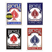 Bicycle Rider Back Standard Index Playing Cards Red/Blue Deck Poker Size 808 New Sealed USPCC USA Magic Cards Magic Tricks Props цена 2017