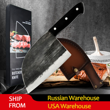 Knife-Tool Kitchen-Knives High-Carbon Butcher Cleaver Filleting Clad-Steel Chinese-Forged