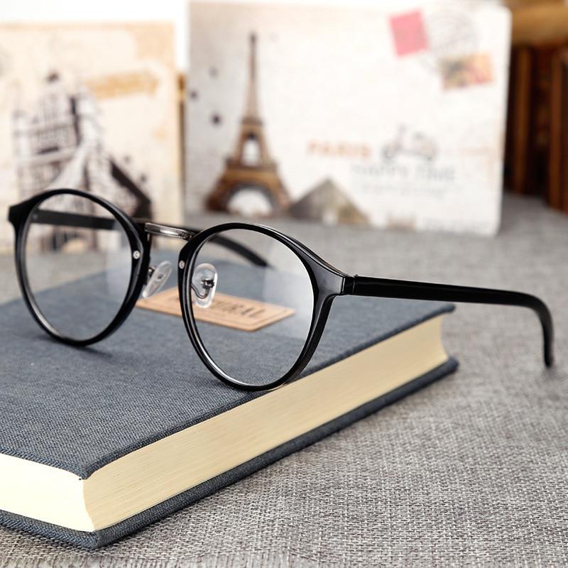 Fashion Vintage Transparent Round Glasses Clear Frame Women Spectacle Myopia Glasses Men Eye Glasses Frame Nerd Optical Frame