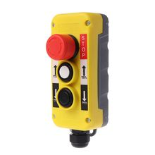 цена на Waterproof Industrial Push Button Switch Emergency Stop for Electric Crane Hoist Pendant Control Switch