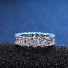 Handgemachte Eternity Versprechen ring silber AAAA cz Engagement Hochzeit Band Ringe für frauen Männer Finger Partei Schmuck