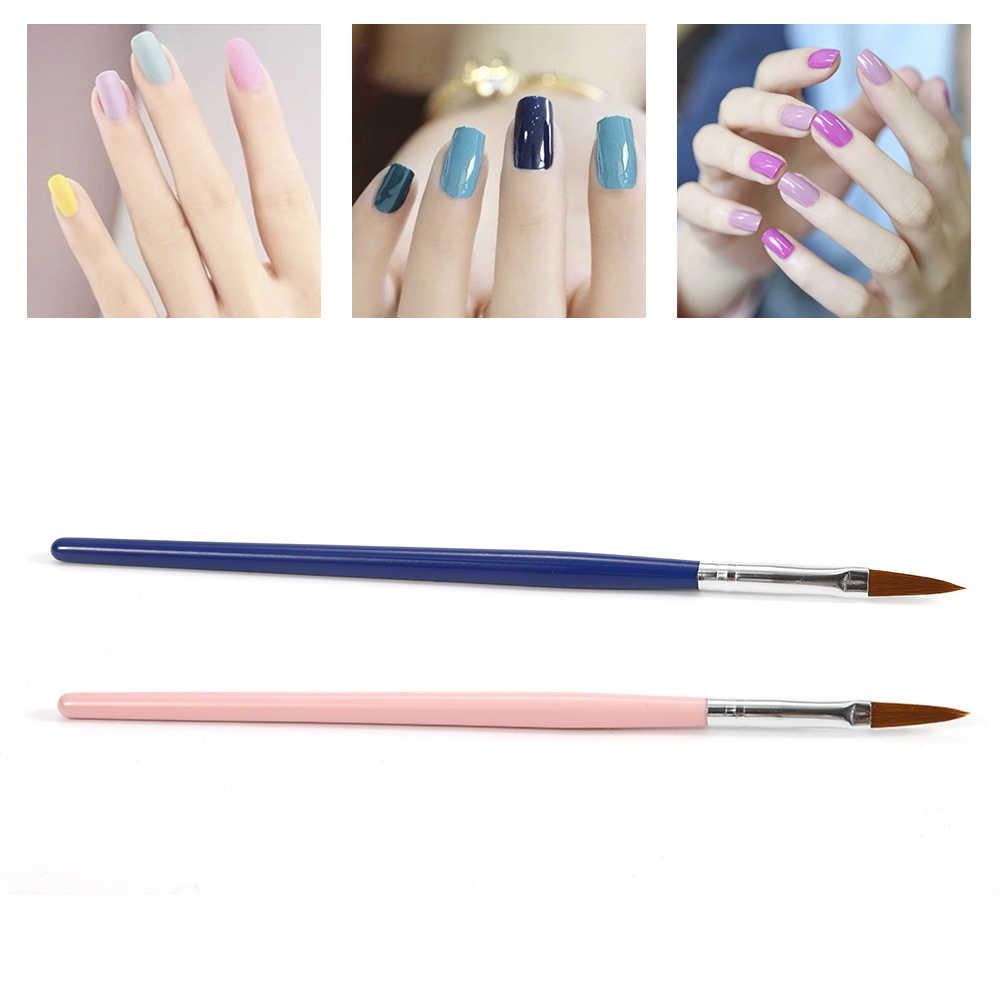1 adet/takım UV jel tırnak resim fırçası lehçe boyama kalem kiti Salon manikür DIY Spin fırça makyaj aracı