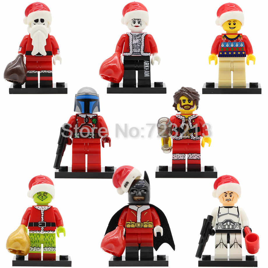 X0154 Natal Menino Figura Jack Skellington Wiley Joker Batman Jango Fett Clone Trooper Building Blocks Toy Legoing