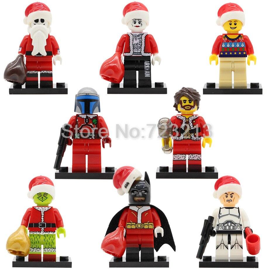 X0154 Christmas Boy Figure Jack Skellington Wiley Joker Batman Jango Fett Clone Trooper Building Blocks Toy Legoing