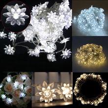 10 м цветы 80 светодиодный солнечный свет открытый сад гирлянды светодиодные лампы Водонепроницаемый Рождество вечеринка Свадьба Праздник Украшения