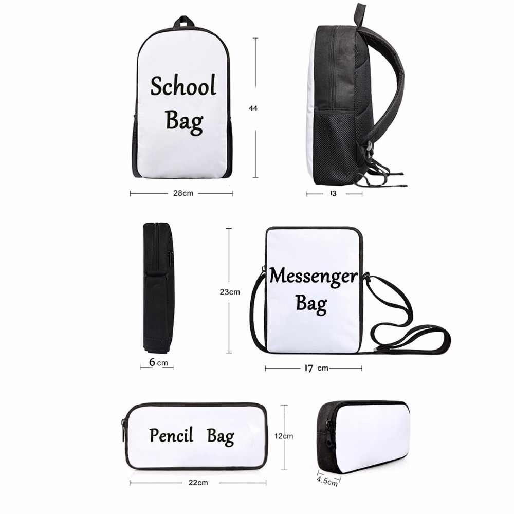 Noisydesigns 2020 Baru Anak Tas Sekolah Set 3 Pcs Anak Primer Junior High School Ransel Hewan Ladybug Printing Mochilas