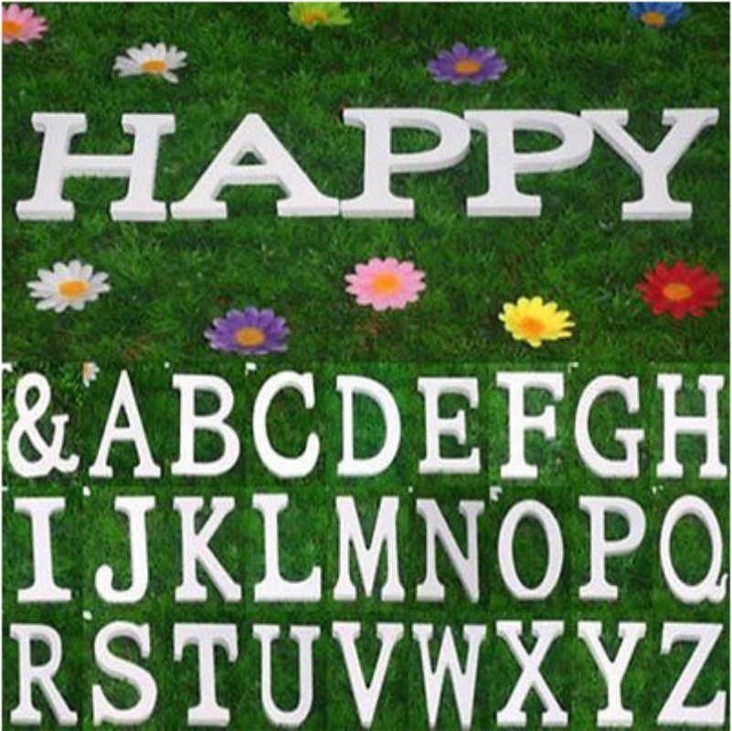 1 Pcs Kayu Huruf Abjad Kata Kayu Putih Huruf Bahasa Inggris untuk Anak-anak Anak Gadis Bayi Shower Selamat Ulang Tahun Pernikahan Dekorasi perlengkapan
