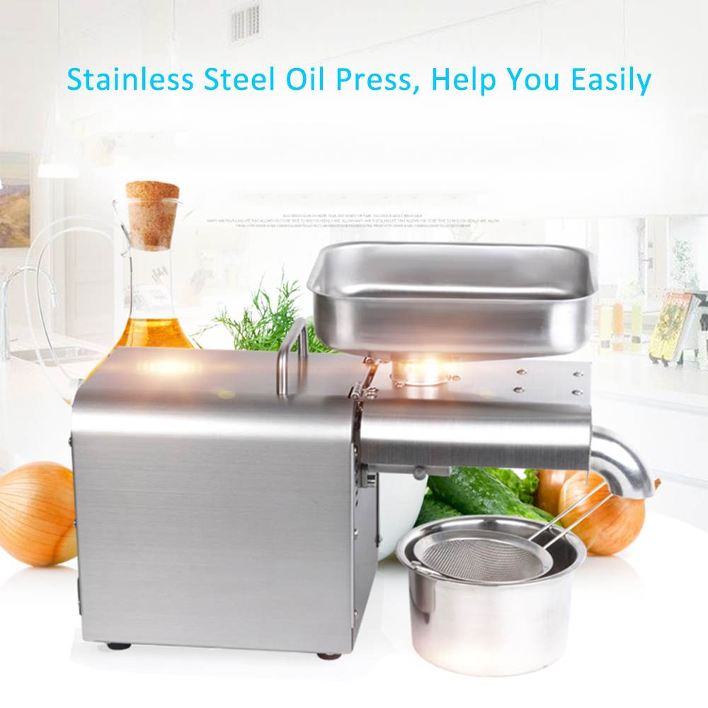 1500W 110V/220V Full-Auto Olive Oil Press Cold Press Oil Machine Stainless steel Oil Cold Press Machine Seeds Oil Extractor