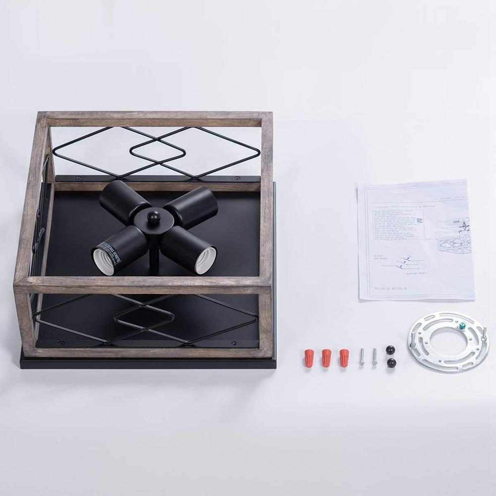 luminaria de teto com montagem embutida industrial 04