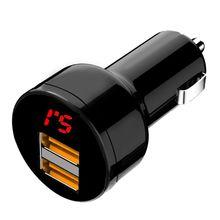 12 V/24 V двойной Порты 3.1A автомобильная зарядка от прикуривателя с двойным Зарядное устройство солнечной энергии цифровой светодиодный вольтметр Мощность адаптер для мобильных телефонов и планшетов gps