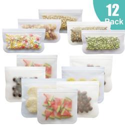 12 шт./компл., силиконовый пищевой мешок, матовый PEVA силиконовый Пакет для сохранения свежести продуктов, многоразовый морозильник, сумка на ...