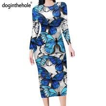 Doginthehole Женская обтягивающая юбка карандаш средней длины