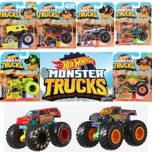 Original Hot Wheels diecast 1:64  Monster red Trucks Metal easy model Car toys for boys 1:24 kids children