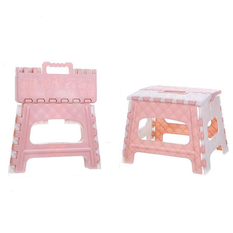 Small Folding Step Stool Multi-Purpose Plastic Portable Kitchen Stepstool 22cm
