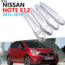 Luxe Chrome Exterieur Handle Cover Trim Set voor Nissan Note E12 Versa Note 2013 ~ 2019 Accessoires Auto Stickers 2018 2017 2016(China)