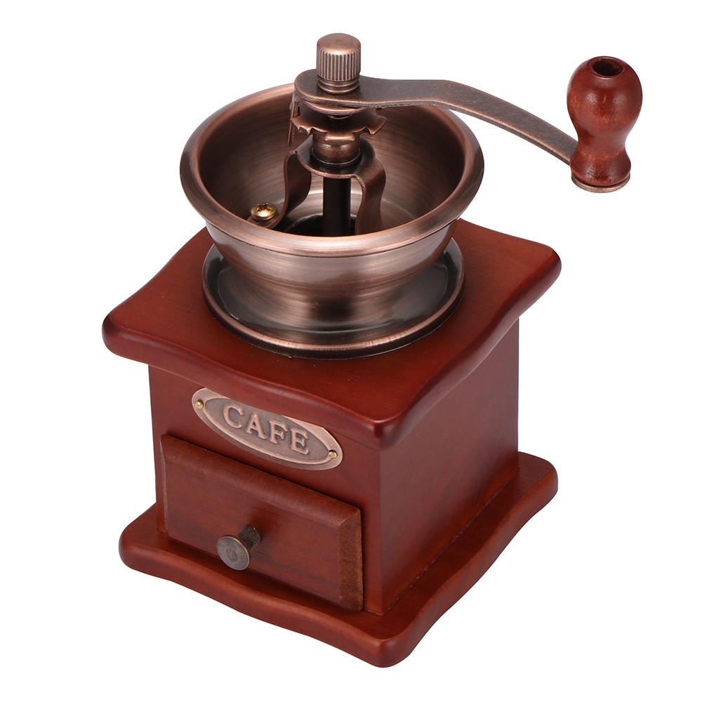 Chicco di caffè Smerigliatrice di Legno Manuale Macinino Da Caffè A Mano In Acciaio Inox di Caffè Retrò Spice mini Burr Mulino Con Ceramica Millston