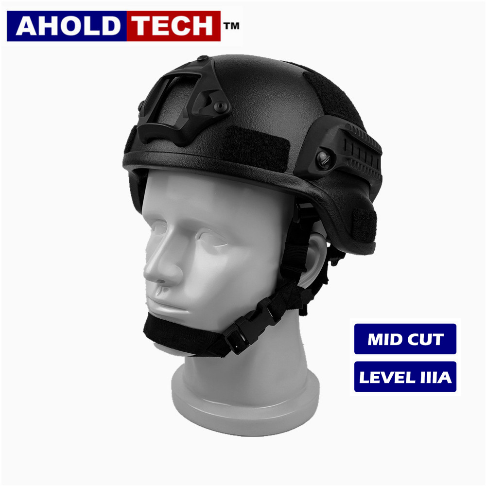 Aholdtech-Ballistic-Bulletproof-Military-Combat-Helmet-ISO-Certified-NIJ-Level-Superlight-IIIA-mich-mid-Cut