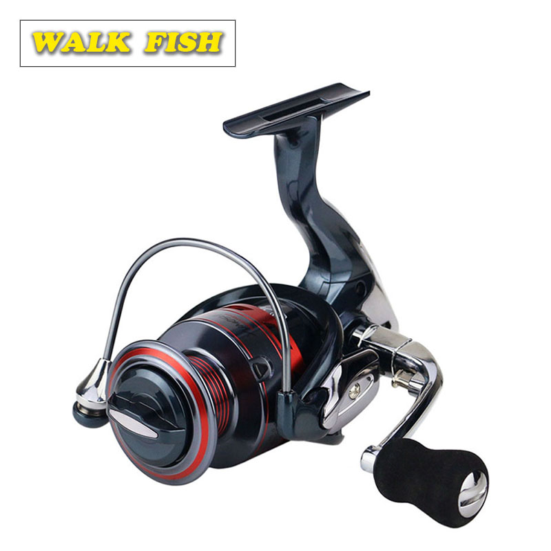 WALK FISH 13 + 1BB Spinning Fishing Reel Metal XS1000-7000 Series kołowrotek wędkarski title=