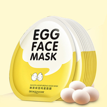 BIOAQUA Egg Whitening Facial Mask Smooth Moisturizing Hydrating Face Mask Oil Control Shrink Pores Brighten Sheet Mask Skin Care 100g foam moisturizing whitening oil control shrink pores facial mask bubble washable face mask skin care