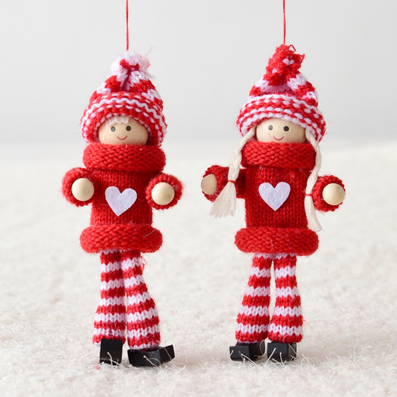 Cute Wool Felt Small Doll Christmas Hanging Ornament Festive Party Supplies Decoration