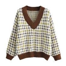 На каждый день с рисунком «гусиные лапки» Для женщин 2021 свитера