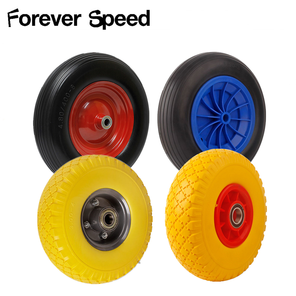 260mm 350mm 390mm PU Casters Wheel Industrial Castor Univeral Wheel Silence Rolling Caster Wheels Trolleys Hand Cart Pulley