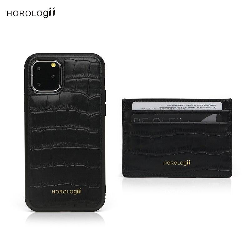 Horologii CUSTOM for iphone 11 Pro Max monogram case card holder embossed crocodile pattern dropship