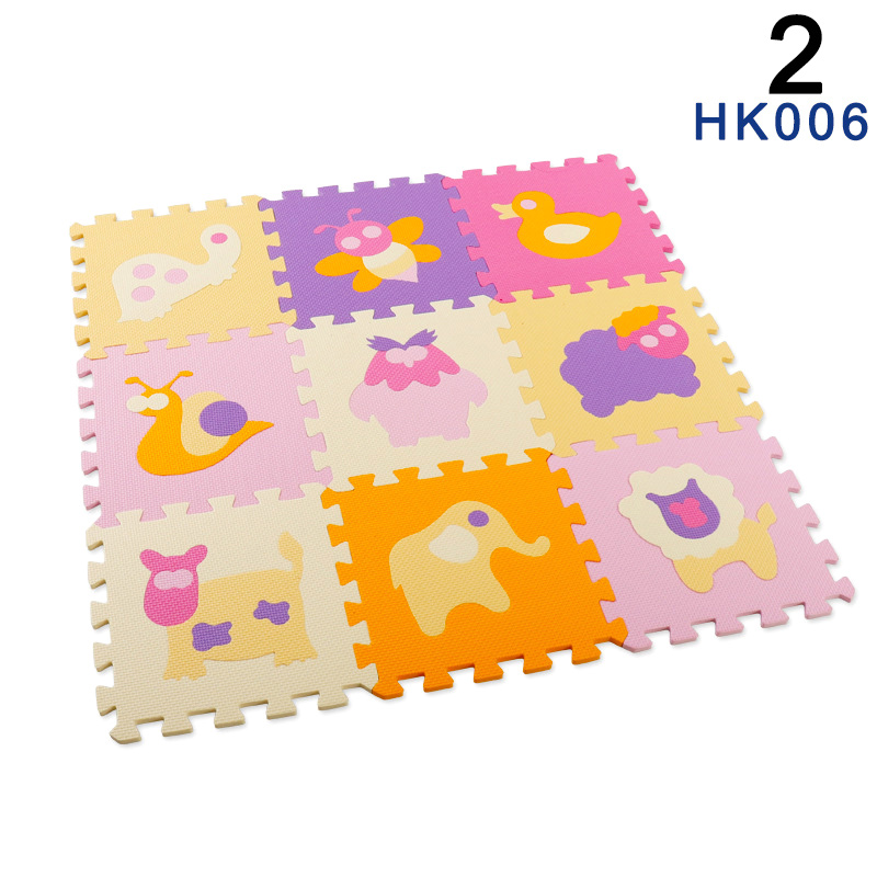 Hot Selling Puzzle Exercise Play Mats Set Crawling Mat Interlocking Foam Floor Tiles For Baby Toddlers