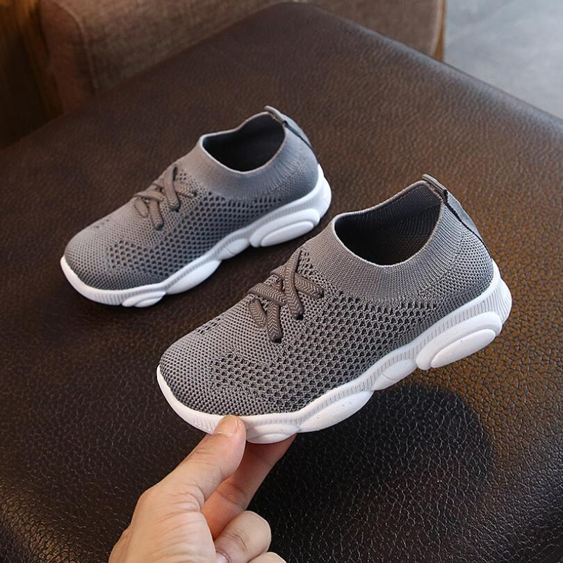 2019 Children Shoes For Summer Boys Girls Sneakers Light Kids Baby Casual Air Mesh Leather Breathable Soft Running Sports Shoes