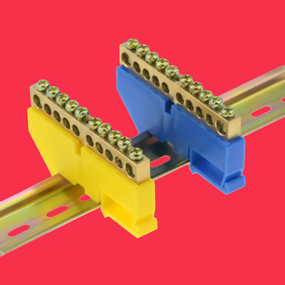 1pcs distribution box rail terminal block Flame retardant plastic wire arc terminal block Connector terminal 6 8 10 12 hole image