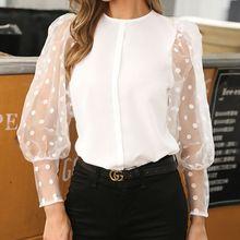 Fashion Women Casual Tops Holiday Ladies Baggy Shirt Blouse Loose Lantern Sleeve