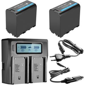 Image 3 - 7800mAh NP F970 NP F970 Power Display Battery + Ultra Fast LCD Dual Charger for SONY F930 F950 F770 F570 CCD