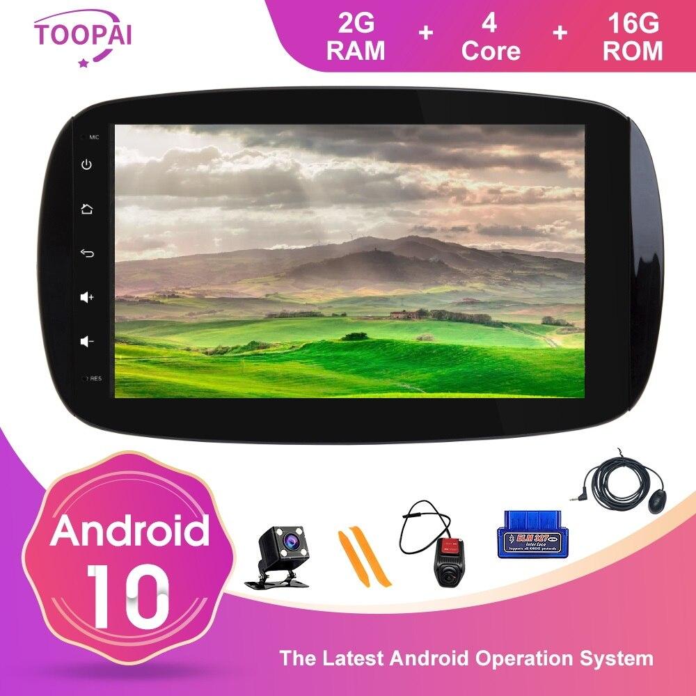 Мультимедийный плеер TOOPAI, Android 10, для Mercedes Benz SMART 2016 2018, GPS навигация, Авторадио, стерео головное устройство, IPS DS SWC