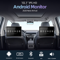 10.1 Inch Android Car Headrest Monitor HD 1080P Video Touch Screen WIFI/Bluetooth/USB/SD/HDMI/FM MP5 Video Player