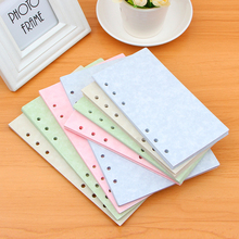 Vintage Notebook Papers Pages A5 A6 Planner Filler Paper Inside Page Gifts Stationery Office School Supplies a5 a6 a7 solid color page 6 holes inside pages planner papers cute notebook matching stationery