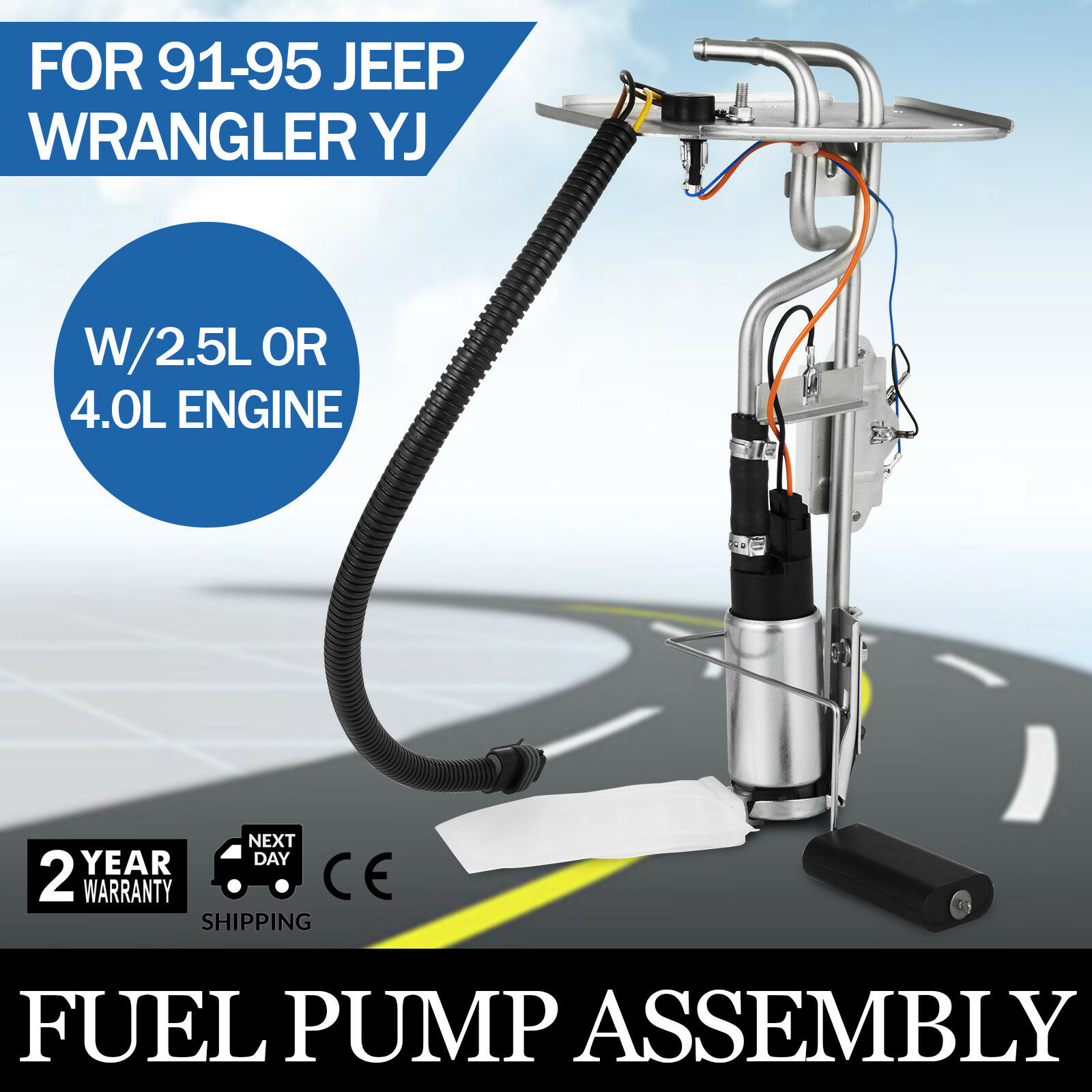 1991-1995 Pop Top Sell Fuel Pump Fuel Tank Unit For Jeep Wrangler YJ