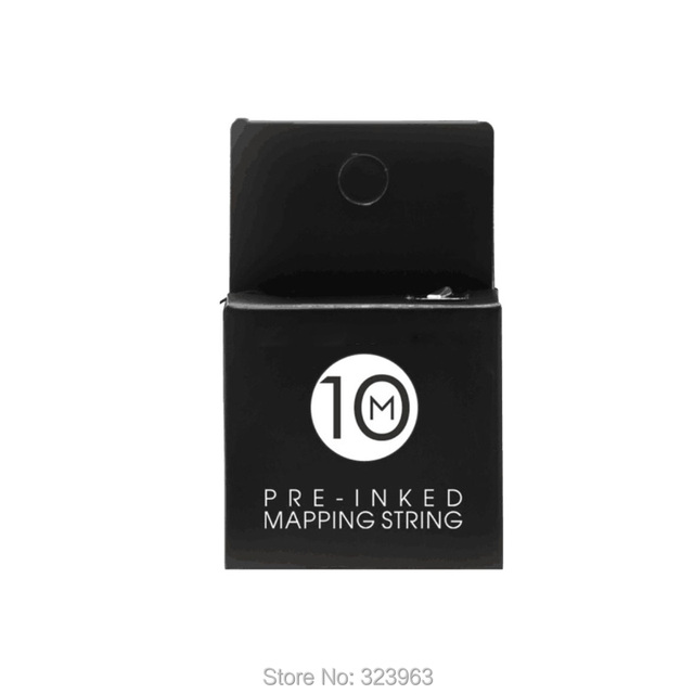 10M Black Eyebrow Microblading Mapping String for Ruler Permanent Makeup Supplies Mapping Thread Pre-inked