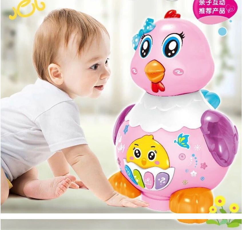 A Hen Funny Chicken Toy Hen Hen Laying Egg Shocked Joke Gift Child Anti-Stress Gadget Fun Game image