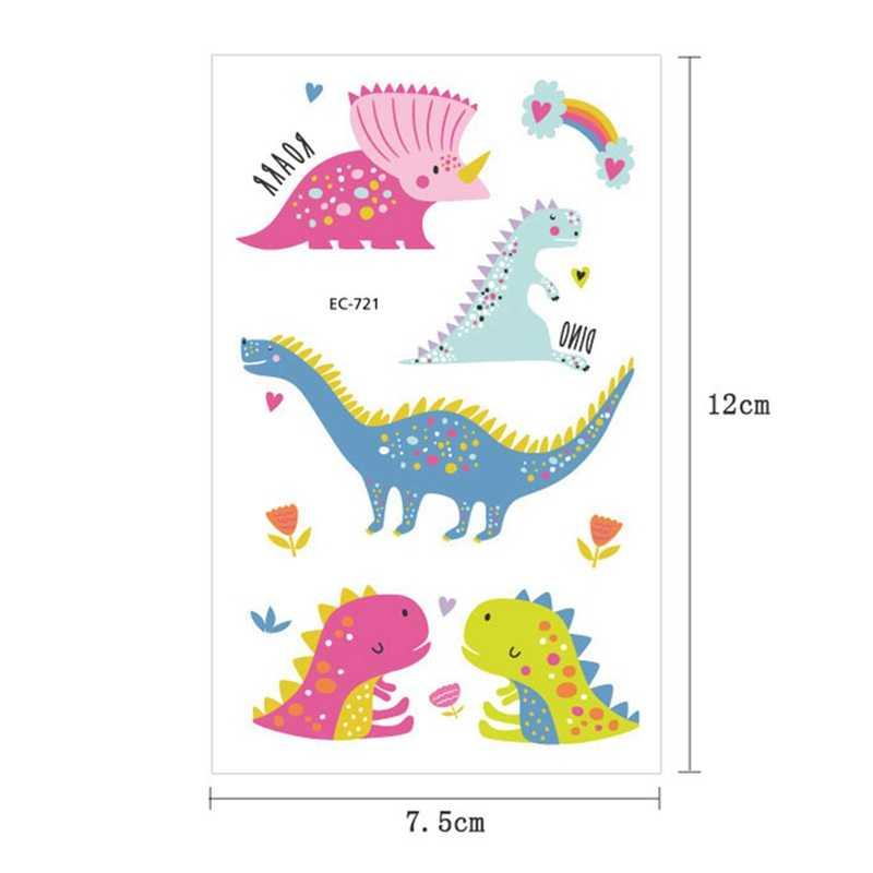 Colorato Jurassic Dinosauro Dei Bambini Autoadesivi Del Tatuaggio Del Corpo Viso di Arte Del Fumetto Tatuaggio Temporaneo Bambini Mani Dei Bambini Flash Tatoo Regali
