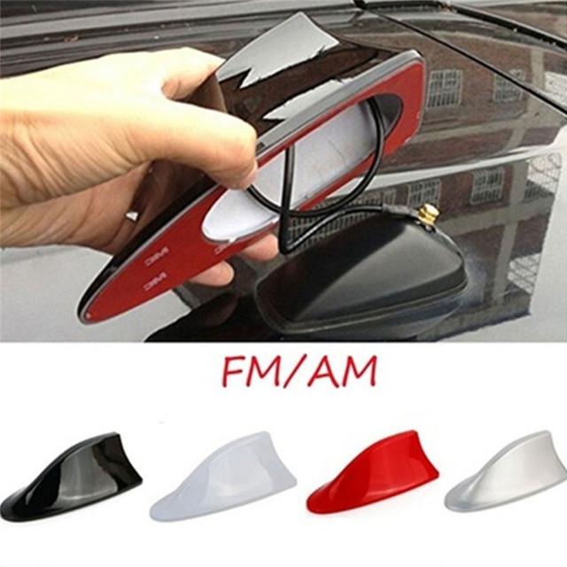 Car Radio Shark Fin Universal Car Shark Antenna Radio FM Signal Design Aerials Antenna Car Styling For All Car Models