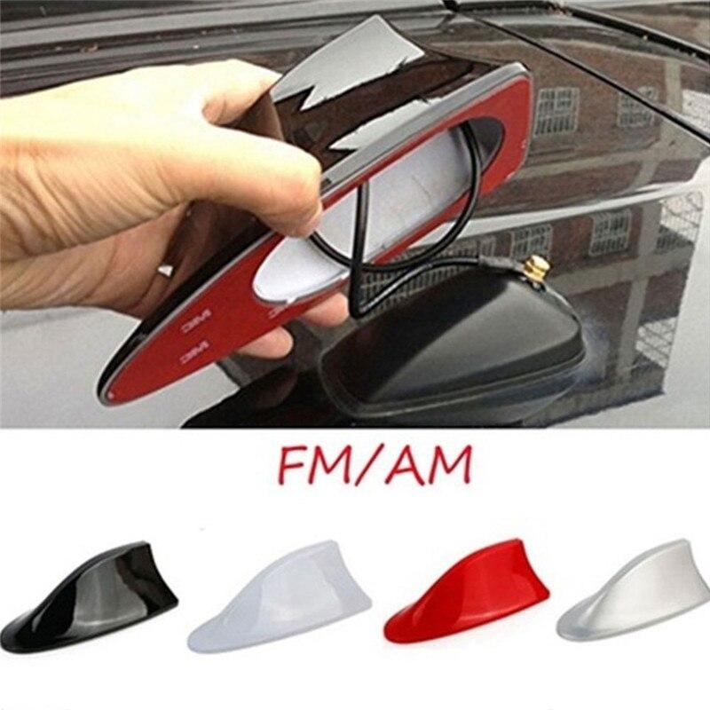 Coche tipo aleta de tiburón para Radio Universal antena tipo aleta de tiburon de coche de Radio FM de señal de diseño antena aérea estilo de coche para todos los modelos de coches